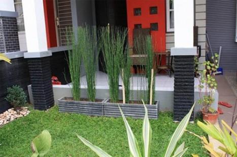 Taman Rumah Minimalis Konsep Teras Depan Rumah