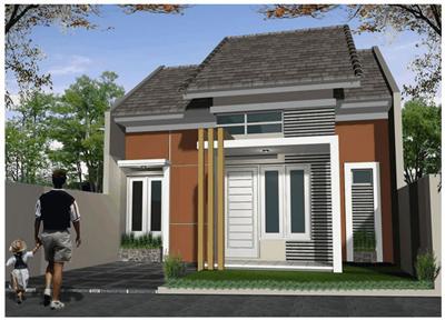 Desain teras Rumah minimalis tipe 45