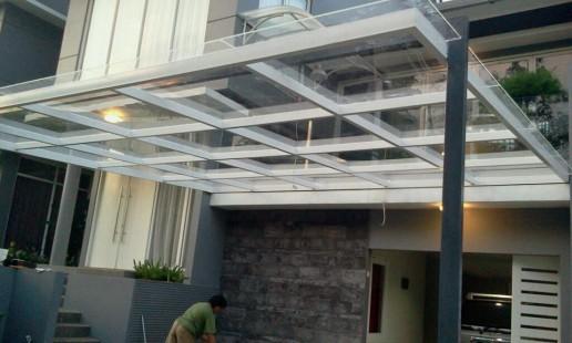 desain canopy kaca