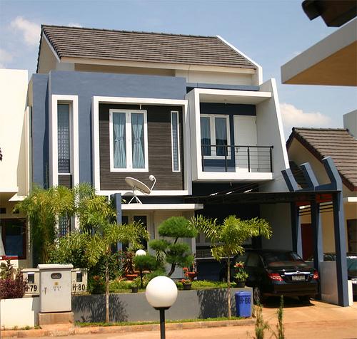 desain teras rumah minimalis 2 dan 3 lantai
