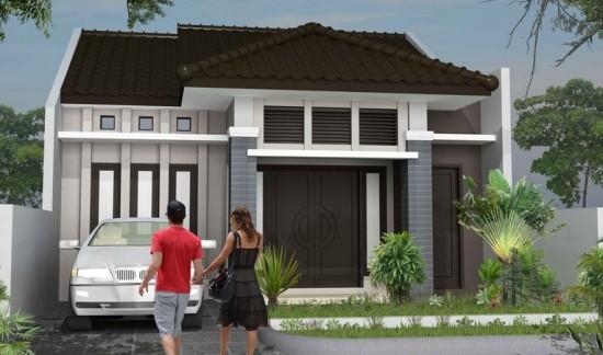 Contoh Gambar Model Teras Rumah Minimalis type 36 Dengan Taman