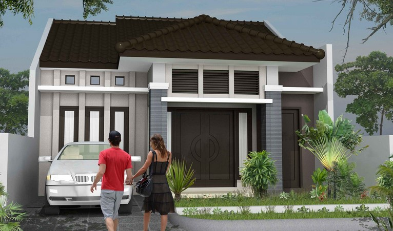 contoh ide desain teras rumah minimalis tipe 36 yang kreatif