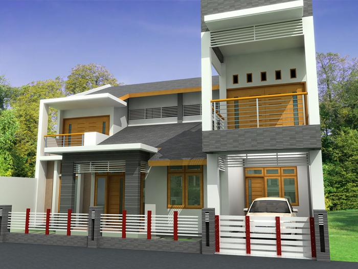 Gambar Teras Rumah Minimalis Dua Lantai Mewah dengan Desain Spesial