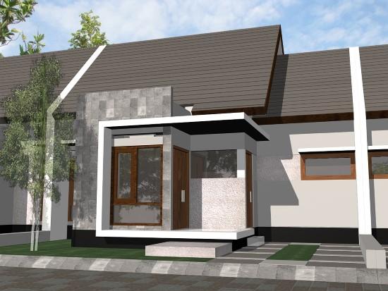 Contoh Gambar Desain Teras Rumah Minimalis Tipe 60 Lega