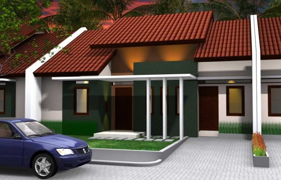 Contoh Teras Rumah Cor Model Minimalis