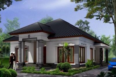 contoh gambar desain teras rumah minimalis satu lantai