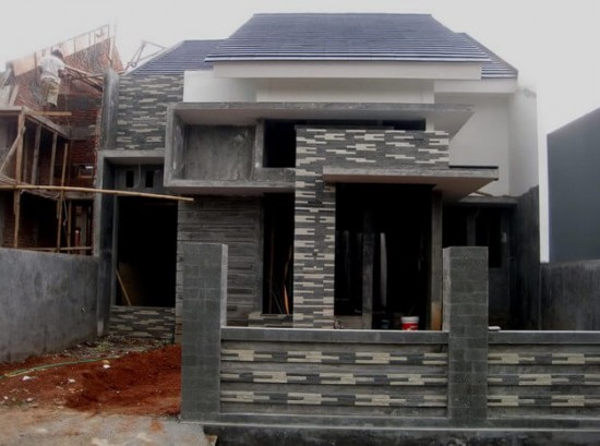 Contoh Teras Rumah Dengan Batu Alam