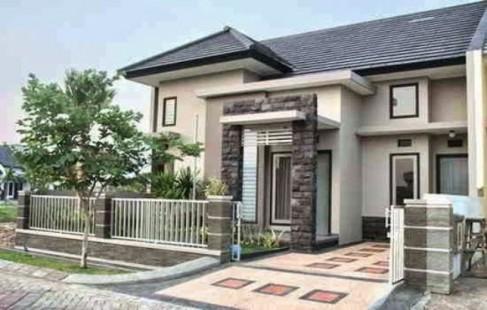 Teras Rumah Minimalis Dengan Batu Alam